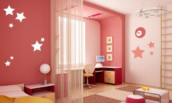 d coration chambre fille rouge. Black Bedroom Furniture Sets. Home Design Ideas