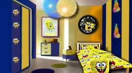 décoration chambre garçon jaune
