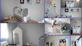 décoration chambre garçon turquoise