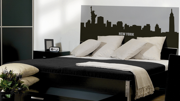 d coration chambre new york. Black Bedroom Furniture Sets. Home Design Ideas