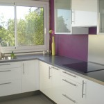 décoration cuisine violet