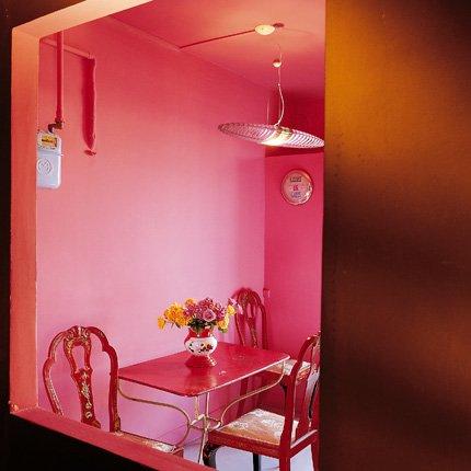 Guide d coration salle manger rose for Decoration maison rose