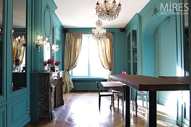 quelle d coration salle manger turquoise. Black Bedroom Furniture Sets. Home Design Ideas