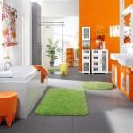 décoration salle de bain orange