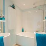 décoration salle de bain turquoise