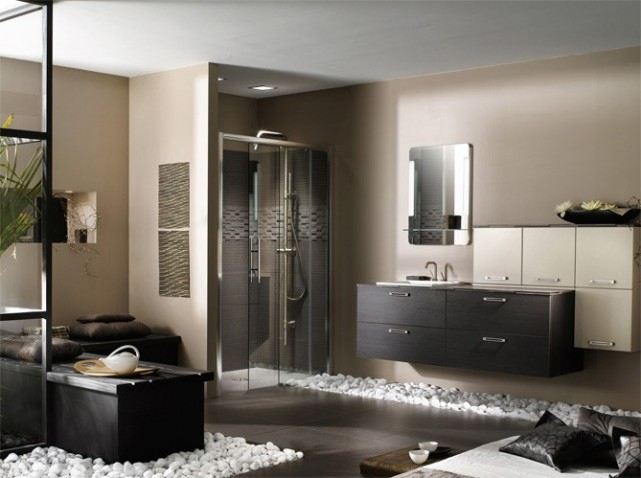 d coration salle de bain zen. Black Bedroom Furniture Sets. Home Design Ideas