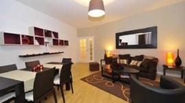 décoration salon marron