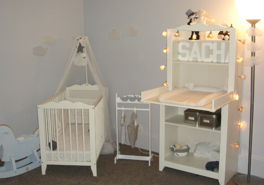 Mod le id e d co chambre b b beige for Exemple deco chambre bebe