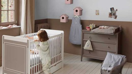 Photo id e d co chambre b b beige - Chambre bebe beige ...