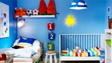 style idée déco chambre bébé bleu