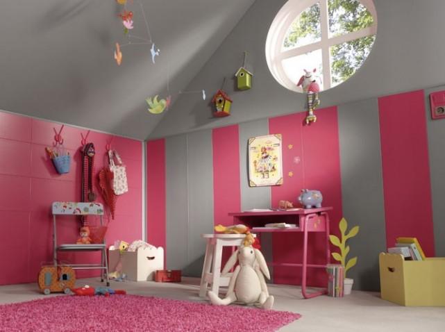 Inspiration id e d co chambre fille gris et blanc for Idee deco chambre gris