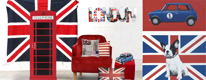 Id e d co chambre fille london - Idee deco chambre london ...