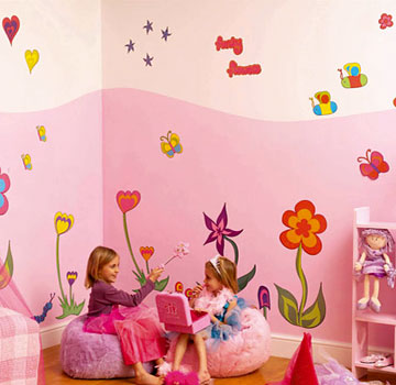 Conseil id e d co chambre fille stickers for Idee deco chambre fille