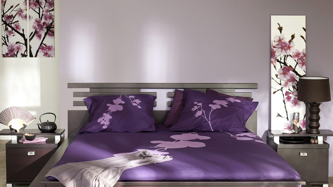 chambre adulte violet maison design. Black Bedroom Furniture Sets. Home Design Ideas