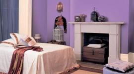 idée déco chambre violet