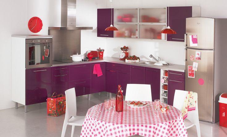 Jolie id e d co cuisine prune - Idee decoration cuisine ...