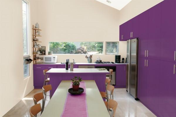 Mod le id e d co cuisine prune - Idee cuisine deco ...