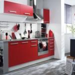 idée déco cuisine rouge