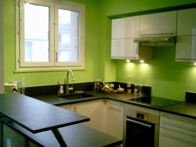 Quelle id e d co cuisine vert - Deco cuisine vert ...