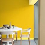idée déco salle à manger jaune