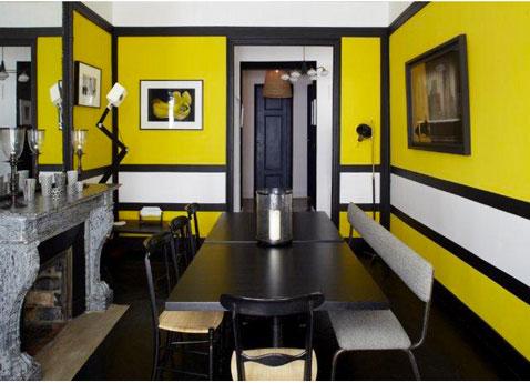 Inspiration id e d co salle manger jaune for Salle a manger idee deco