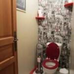 idée déco wc - toilettes gris
