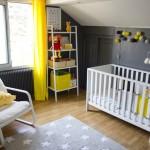 ambiance chambre fille jaune