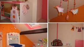 ambiance chambre fille orange