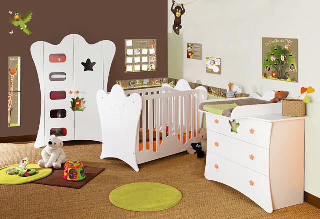 jolie ambiance chambre gar on orange. Black Bedroom Furniture Sets. Home Design Ideas