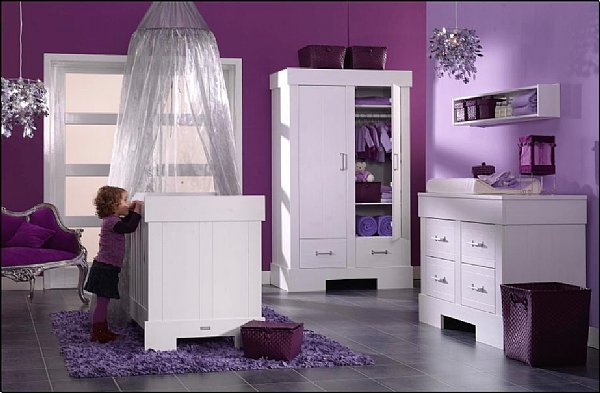 ambiance chambre violet