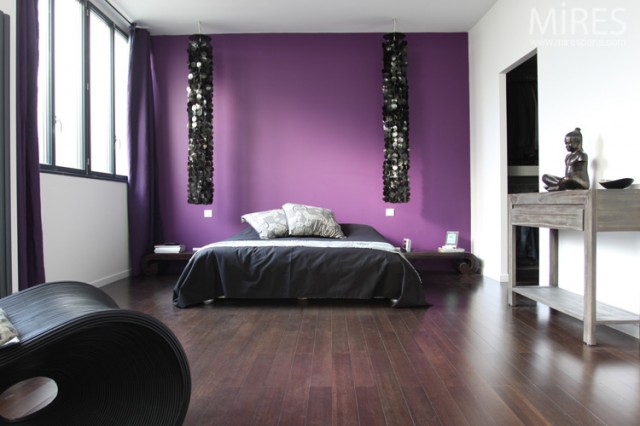 ambiance chambre violet. Black Bedroom Furniture Sets. Home Design Ideas