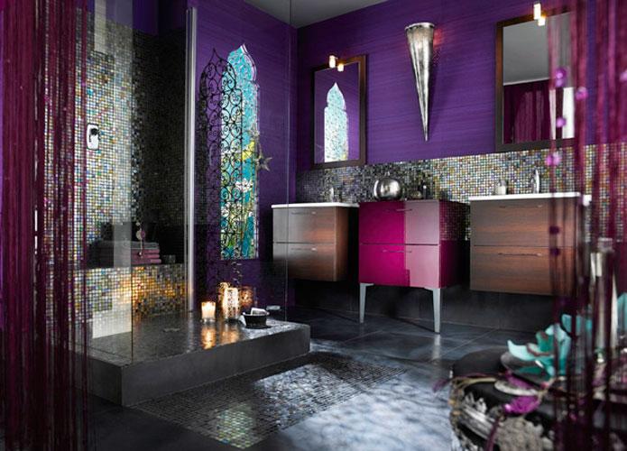 jolie ambiance salle de bain orientale