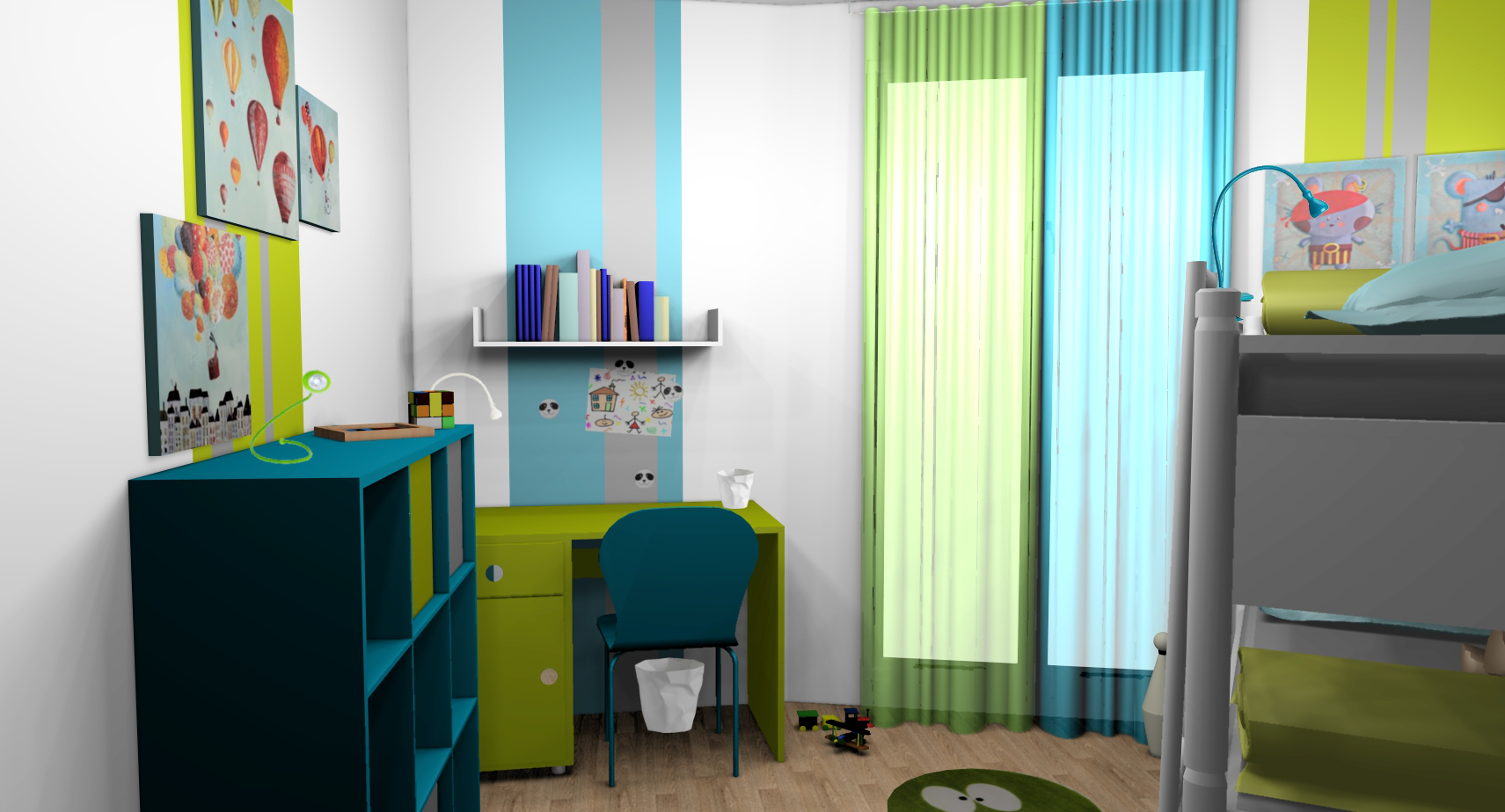 d co chambre gar on turquoise. Black Bedroom Furniture Sets. Home Design Ideas