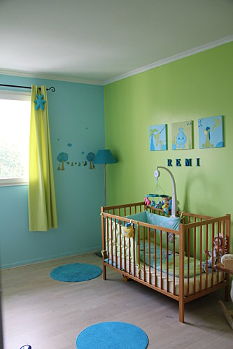 Photo d co chambre gar on turquoise for Chambre garcon bleu turquoise