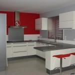 déco cuisine gris et rouge