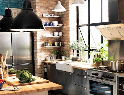d co cuisine industriel. Black Bedroom Furniture Sets. Home Design Ideas