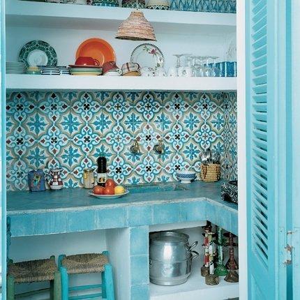 déco cuisine turquoise