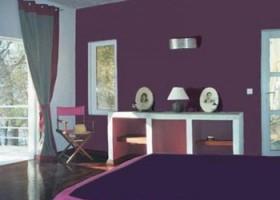 décoration chambre fille prune