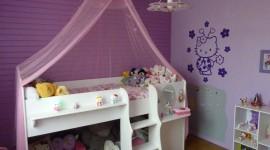 Id e d co chambre fille violet - Chambre garcon vert et gris ...