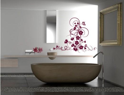 Mod le d coration salle de bain stickers - Stickers deco salle de bain ...