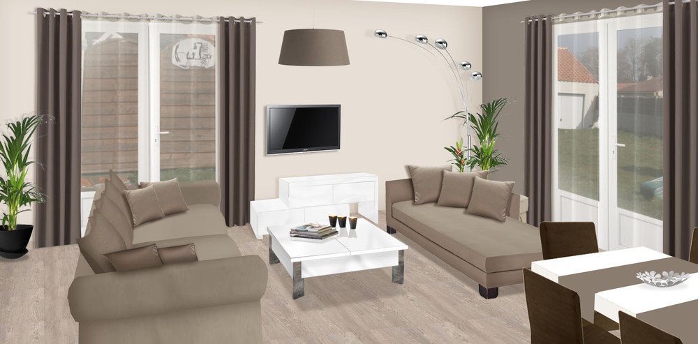 Conseil d coration salon taupe for Decoration maison salon tv