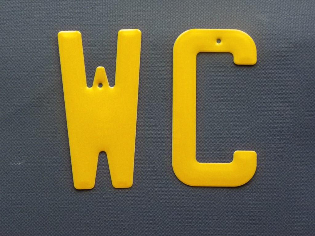 décoration wc - toilettes jaune