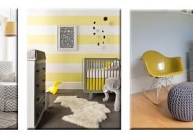 idée déco chambre bébé jaune