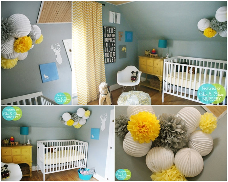 Style id e d co chambre b b jaune for Decoration interieur chambre bebe
