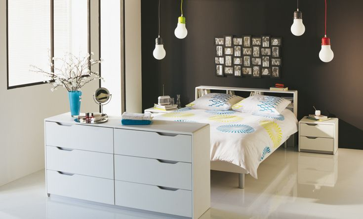 Guide id e d co chambre blanc for Idee de decoration chambre