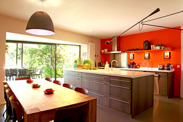 Conseil id e d co cuisine orange for Decoration maison orange