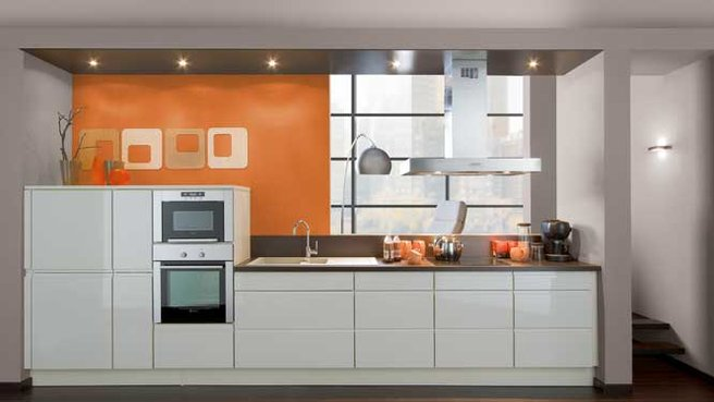 Style id e d co cuisine orange for Cuisine orange et gris