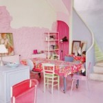 idée déco salle à manger rose